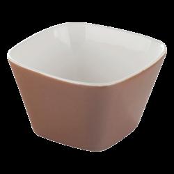 Bowl square 6 cm - RGB taupe gloss Lunasol