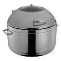 Soup Chafing dish round 11 lt, for induction - Lunasol Service CNS 18/10