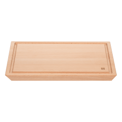 Cutting board 40 x 30 cm with groove - BASIC Wooden