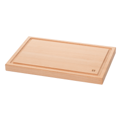 Chopping board with groove 30 x 20 x 2.2 cm - BASIC Wooden