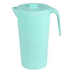 Round bamboo jug 1.65l, turquoise - FLOW Bamboo Fiber