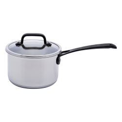 Saucepan 16 x 7.5 cm 1.5 l with glass lid - Orion GAYA Inox with Profi handles