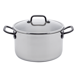 Cooking pot 24 x 13 cm, 6.1 lt - Orion GAYA Inox with Profi handles