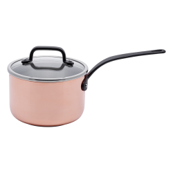 Saucepan 16 x 10 cm with glass lid - Sirius Gaya Copper