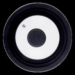Glass Lid with Silikon-Rim black 16, 18, 20 cm