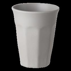 Cup Octagon 300ml, light grey - FLOW Bamboo Fiber