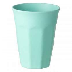 Cup Octagon 300ml, turquoise - FLOW Bamboo Fiber