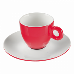 Mocca saucer 12.5 cm - RGB red gloss Lunasol