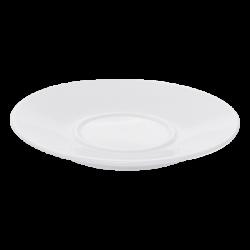 Mocca Saucer 12.6cm - Lunasol Hotel porcelain uni white