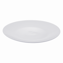 Coupe Plate round Ø 40 cm 4 cm high - Buffet Lunasol uni white