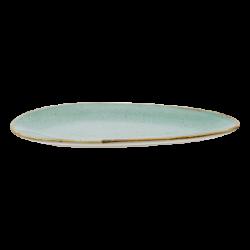 Plate oval 25 cm - Gaya Sand turquoise Lunasol