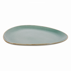 Plate oval 30 cm triangle - Gaya Sand turquoise Lunasol