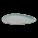 Plate oval 30 cm triangle - Gaya Sand turquoise Lunasol