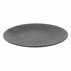 Plate flat Coupe 20.3 cm - FLOW Raised Structur black / grey