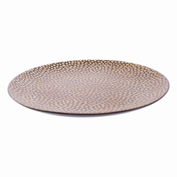 Plate flat Coupe 25.3 cm - FLOW Raised Structur black/ champagne