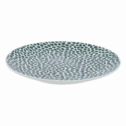 Flat Plate Coupe 15,7 cm - FLOW Raised Structur white/dark green