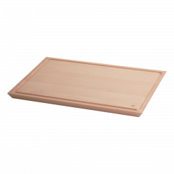 Chopping board with groove II - BASIC Wooden