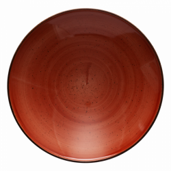 Pasta plate Curve 30 cm terracotta - Hotel Inn Chic color