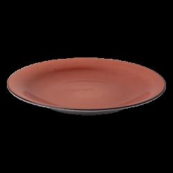 Plate flat 25 cm terracotta - Hotel Inn Chic color