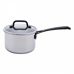 Saucepan 18 x 8.5 cm with glass lid - Orion GAYA Inox with Profi handles