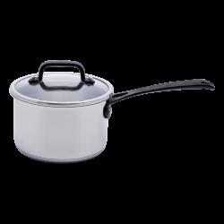 Saucepan 18 x 8.5 cm with glass lid - Orion GAYA Inox with Profi handles