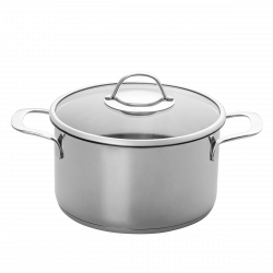 Cooking pot with handles Ø 24 cm with glass lid - Orion Inox with CNS-Profi handles