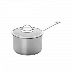 Sauce pan Ø 16 cm with glass lid - Orion Inox with CNS-Profi handles