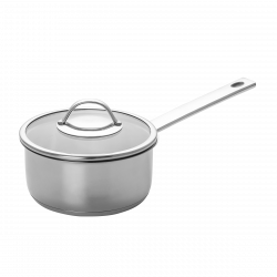 Sauce pan Ø 18 cm with glass lid - Orion Inox with CNS-Profi handles