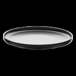 Dessert Plate U-Coupe 20 cm - FLOW Lunasol black