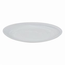 Flat Plate 28 cm - Elements Glass white