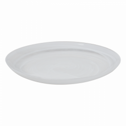 Flat Plate 21 cm - Elements Glass white