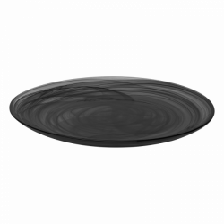 Flat Plate 28 cm - Elements Glass black