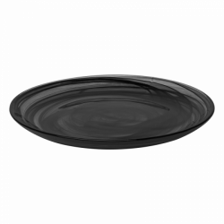 Flat Plate 21 cm - Elements Glass black