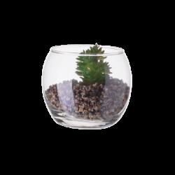 Vase Ball with Deco-Plants ⌀ 8 cm