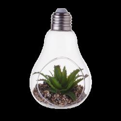 "Vase ""light bulb"" with Deco-Plants 8 x 7 x 12.5 cm"