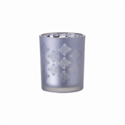 "Candle Holder Glass ""Platinum Cross"" 6 x 7.3 cm - S-Art"