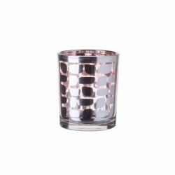 "Candle Holder Glass ""Copper Dot"" 6 x 7.5 cm - S-Art"