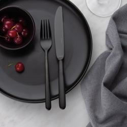 Table Knife monoblock - Faro PVD black all satin