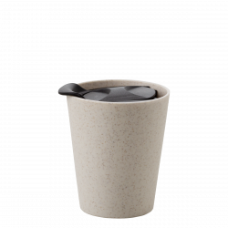 Mug Nature Wheat Fiber with black Lid - BASIC Kitchen