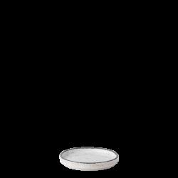 Bowl round Ø 10.5 cm H: 1.3 cm - Gaya Atelier light grey speckled