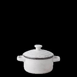 Casserole with lid Ø 10.2 cm - Gaya Atelier light grey speckled