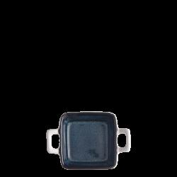 Bowl square with handle 7.8 x 7.8 cm H: 3.4 cm - Gaya Atelier Night Sky / white