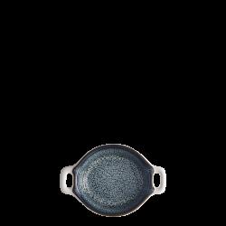 Bowl round with handle Ø 7.2 cm H: 2 cm - Gaya Atelier Night Sky / white