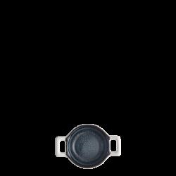 Bowl round with handle Ø 6 cm H: 3.5 cm - Gaya Atelier Night Sky / white