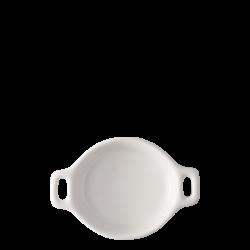 Bowl round with handle Ø 7.2 cm H: 2 cm - Gaya Atelier white