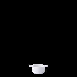 Bowl round with handle ø 6 cm H: 3.5 cm - Gaya Atelier white