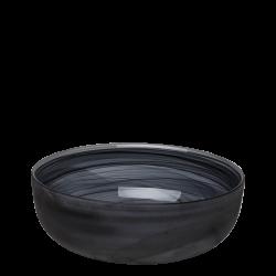 Bowl 21 cm - Elements Glass black sandblast