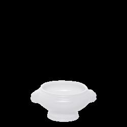 Soup Bowl 350 ml with Lion head handle - Lunasol Hotelporzellan uni weiss
