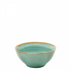 Bowl 15.5 cm Spiral - Gaya Sand turquoise Lunasol