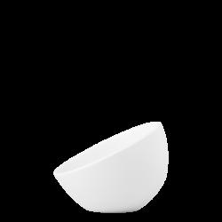 Bowl aslope medium, 14 cm - Flow Eco white Lunasol
